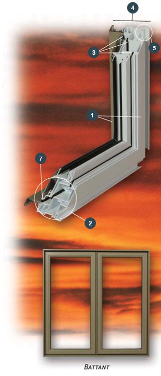Fabricant de fen tres combo aluminium battant auvent for Barrotin fenetre